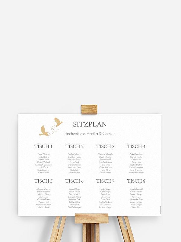 Sitzplan Plakat Liebesnest