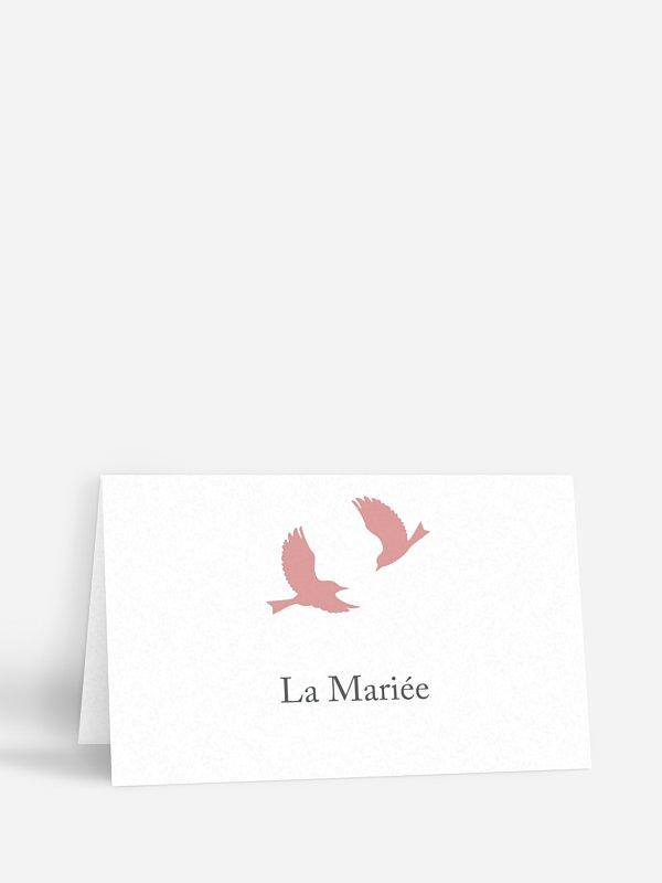 Marque-place mariage Amour poétique