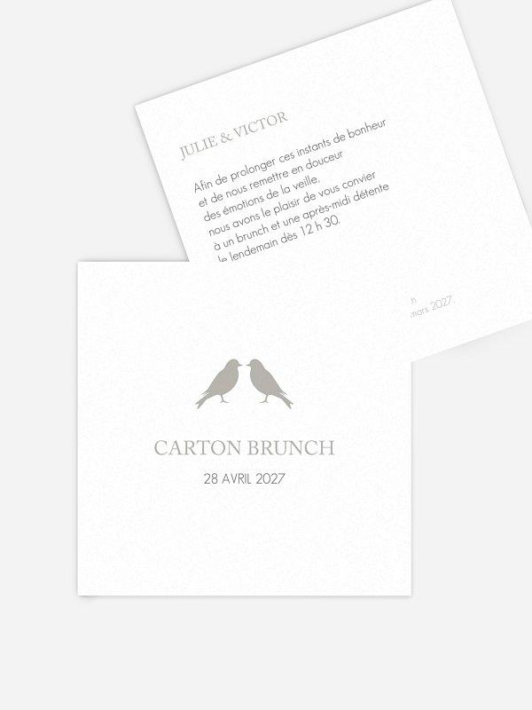 Carte brunch Amour poétique