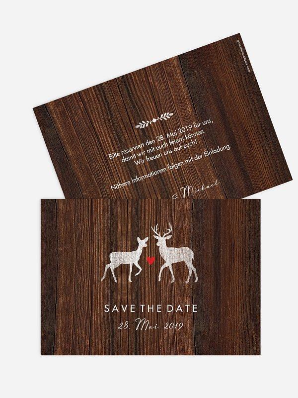 Save-the-Date Karte Wilde Ehe