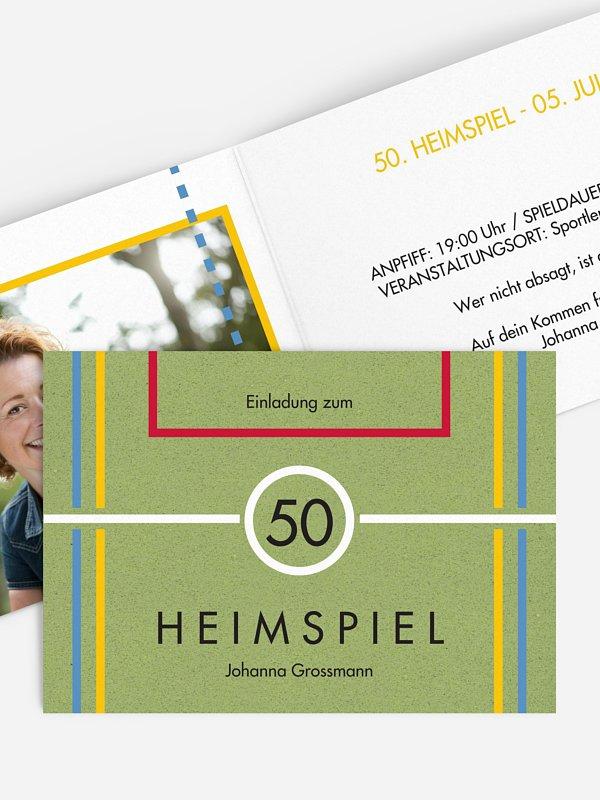 Einladung 50. Geburtstag Heimspiel