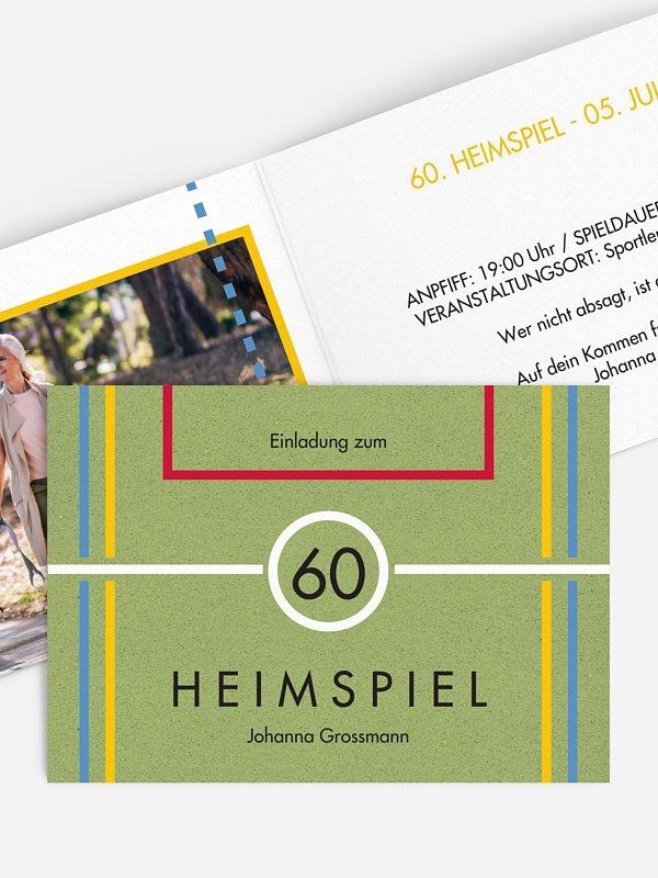 Einladung 60. Geburtstag Heimspiel