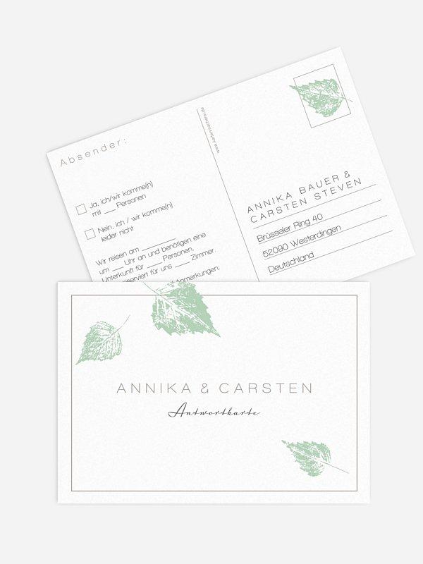 Antwortkarte Hochzeit Waldhochzeit