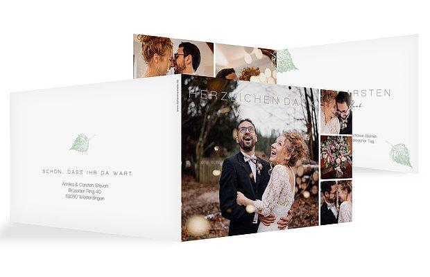 Dankeskarte Hochzeit Waldhochzeit