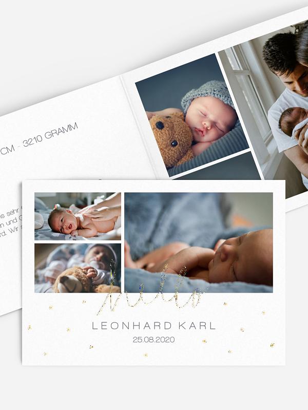 Geburtskarte Dreams & Dots Premium