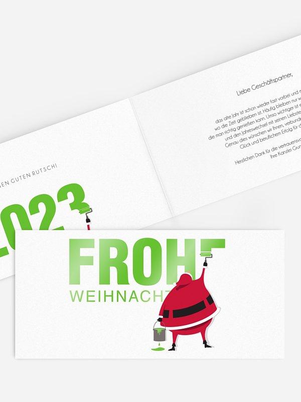 Geschäftliche Weihnachtskarte Farbenfrohe Weihnachten