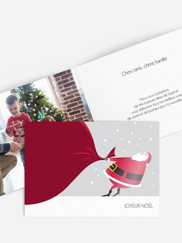 Carte de Noël Père Noël