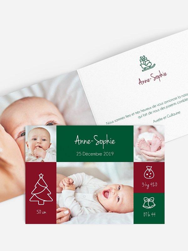 Faire-part naissance Winter Baby
