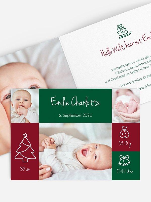Geburtskarte Winter Baby