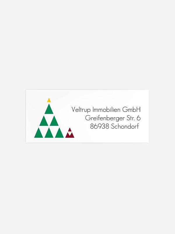 Absenderaufkleber geschäftl. Weihnachten Treeangle Premium
