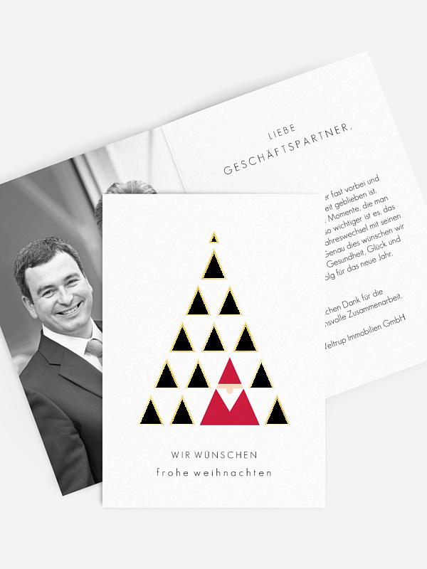 Geschäftliche Weihnachtskarte Treeangle Premium