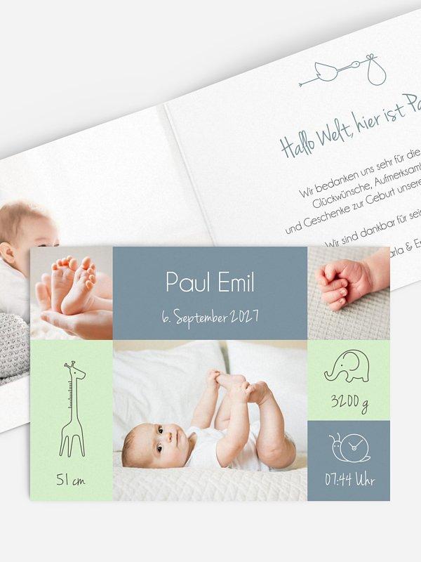 Geburtskarte Cute Friends