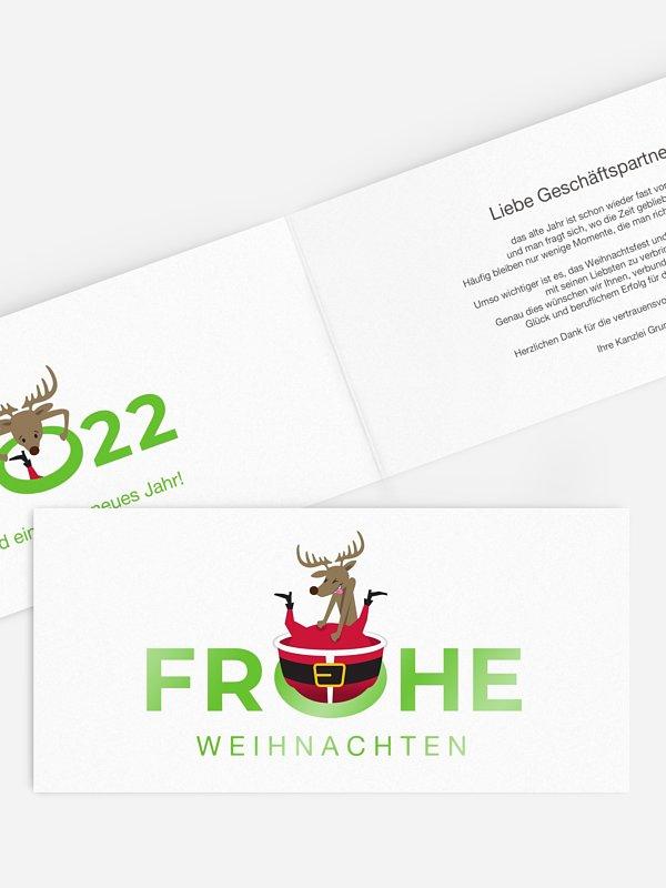 Geschäftliche Weihnachtskarte Durch dick und dünn