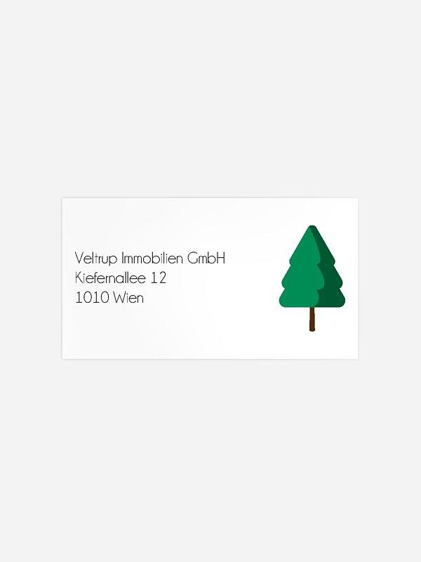 Empfängeraufkleber geschäftl. Weihnachten Yoga Baum
