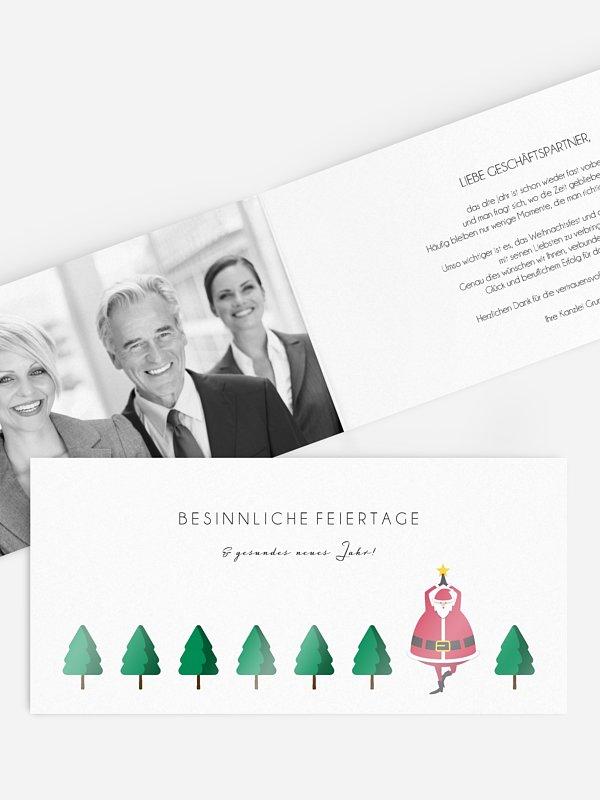 Geschäftliche Weihnachtskarte Yoga Baum