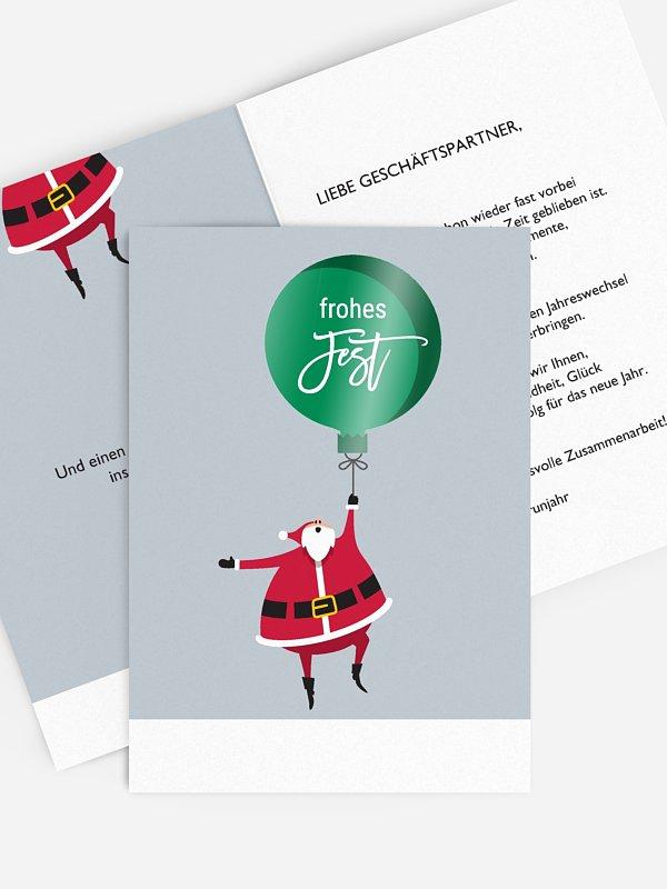 Geschäftliche Weihnachtskarte Enjoy