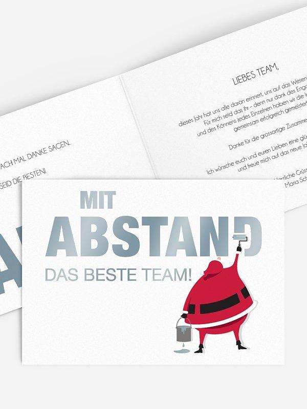 Geschäftliche Weihnachtskarte Farbenfrohe Weihnachten Mitarbeiter