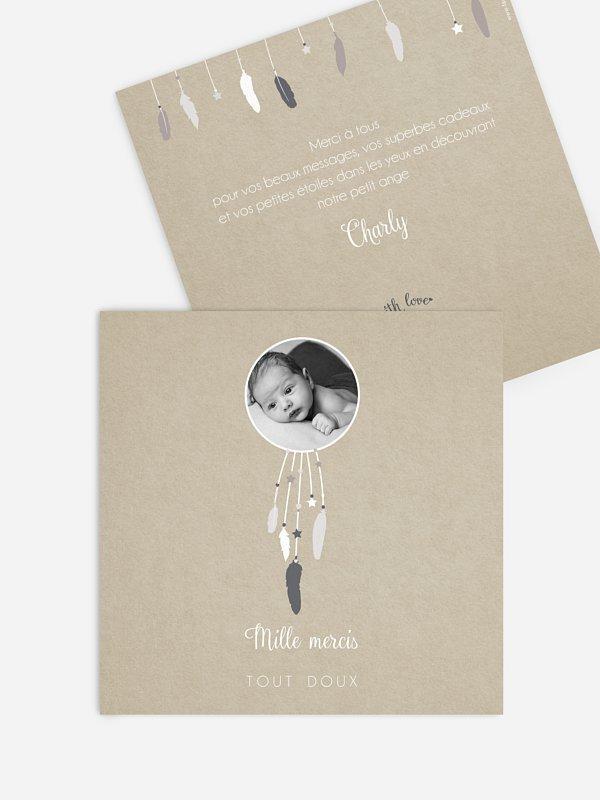 Carte remerciement naissance Attrape-rêve