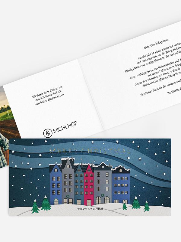 Spendenkarten Geschäftlich Papercut City