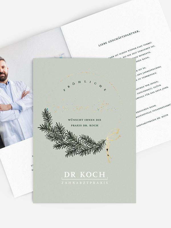 Spendenkarten Geschäftlich Christmas Hoop