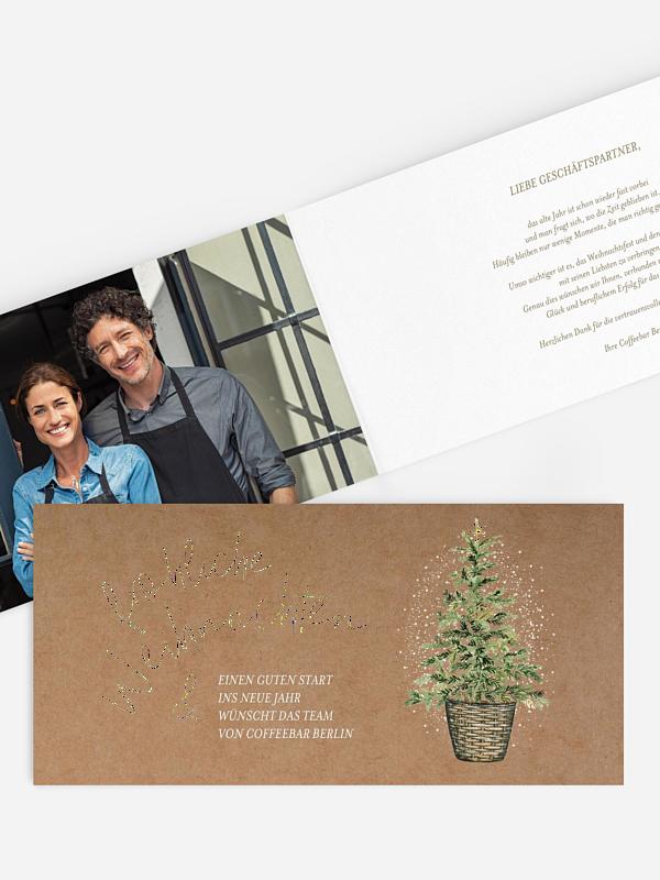 Spendenkarten Geschäftlich Weihnachtlich
