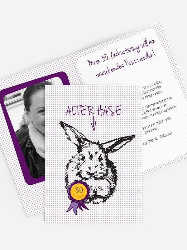 Einladung 30. Geburtstag Alter Hase