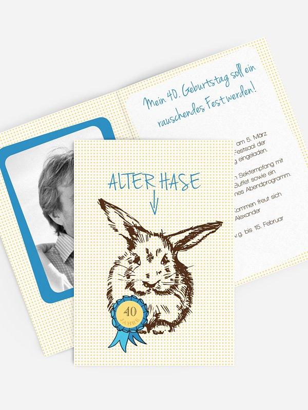 Einladung 40. Geburtstag Alter Hase