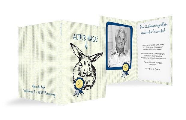 Einladung 60. Geburtstag Alter Hase