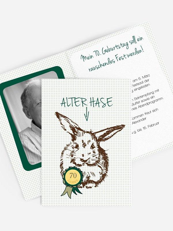 Einladung 70. Geburtstag Alter Hase