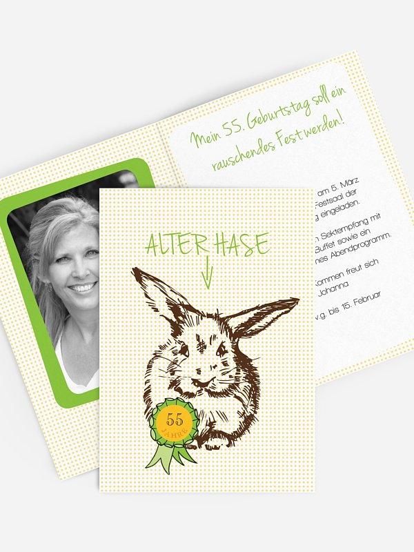 Geburtstagseinladung Alter Hase