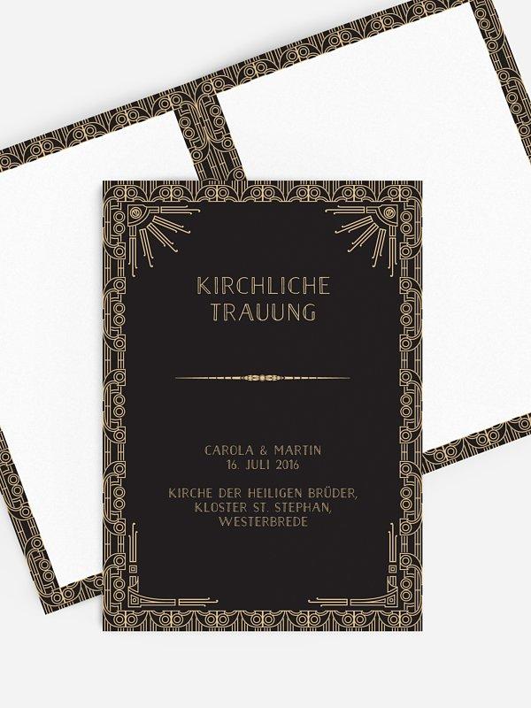Kirchenheft Hochzeit Golden Twenties