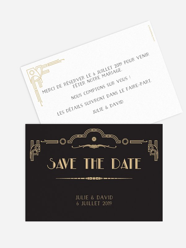 Save the date Années 1920