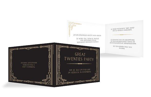 """Partyeinladung """"Golden Twenties"""""""