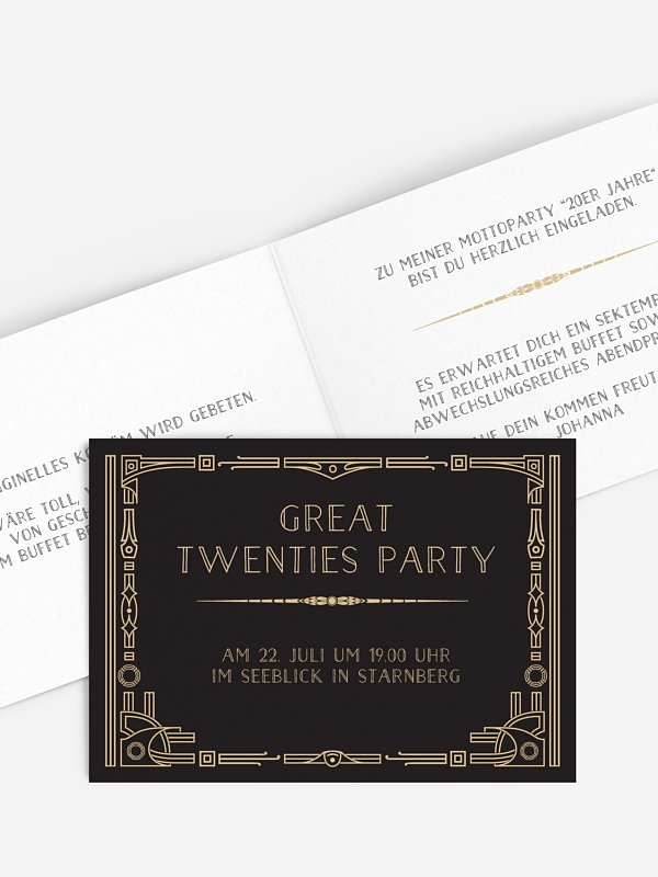 Partyeinladung Golden Twenties