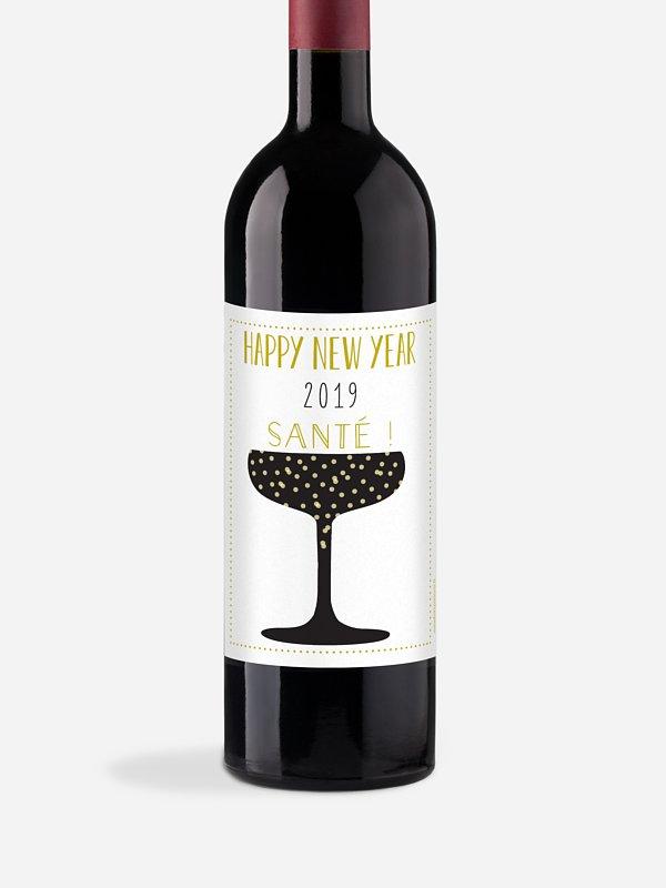 Étiquette pour bouteille Cheers