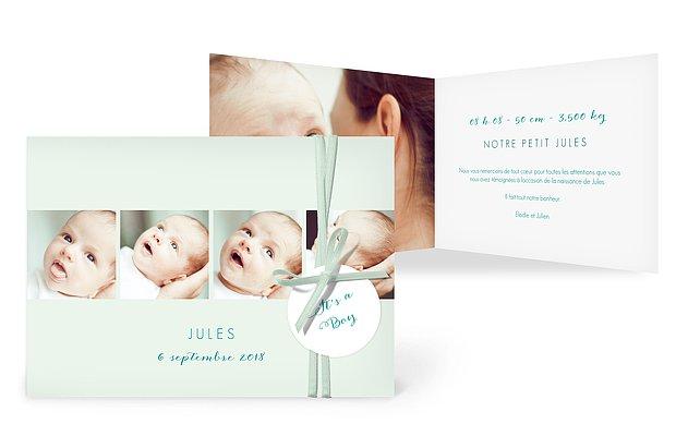 Faire-part naissance Multi-portraits