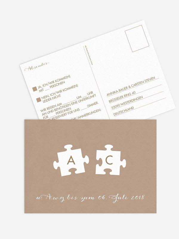 Antwortkarte Hochzeit Perfect Pair