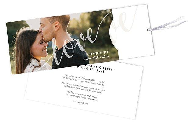 Hochzeitseinladung Only Love