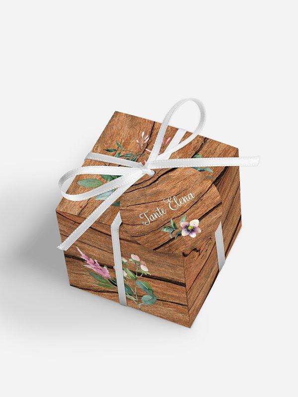 Gastgeschenkbox personalisiert Rustic Bloom