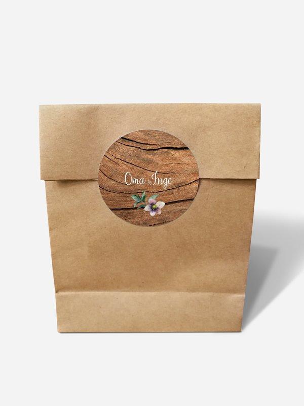 Papiertüte personalisiert Rustic Bloom
