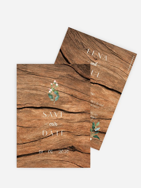 Save-the-Date Karte Rustic Bloom