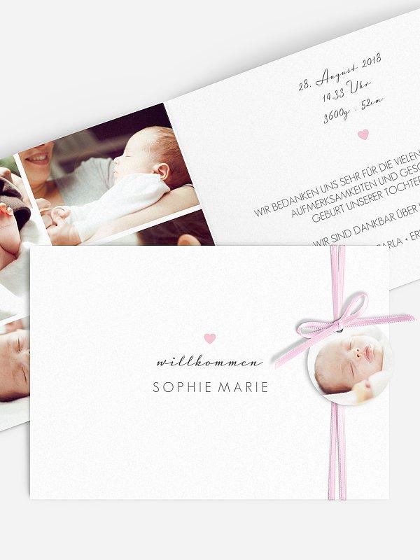 Geburtskarte Kleines Herz