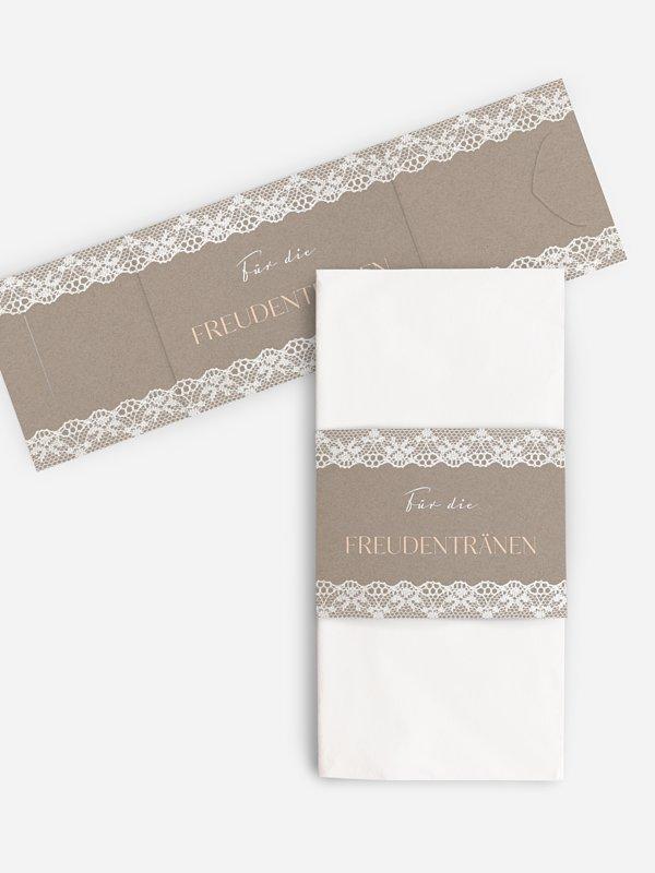 Freudentränen-Taschentücher Spitzenband