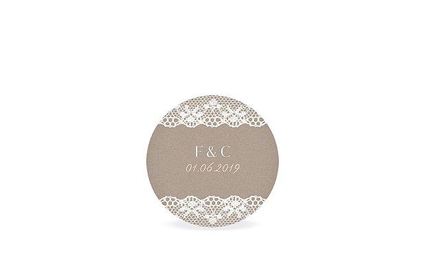 Étiquette cadeau mariage Bandeau de dentelle