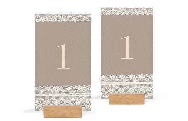 num ro de table mariage bandeau de dentelle. Black Bedroom Furniture Sets. Home Design Ideas