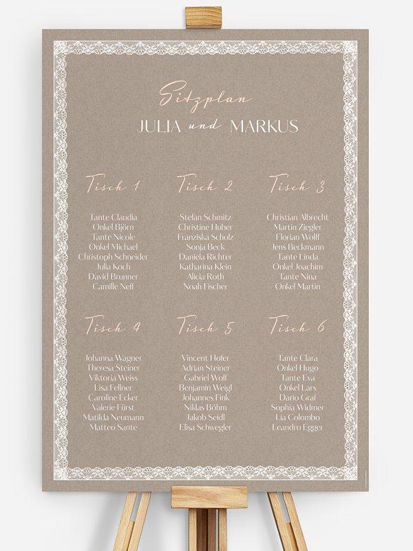Sitzplan Plakat Spitzenband