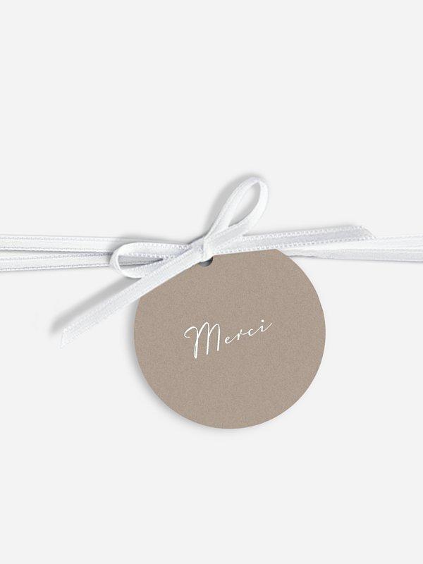 Étiquette avec ruban mariage individuelle Bandeau de dentelle