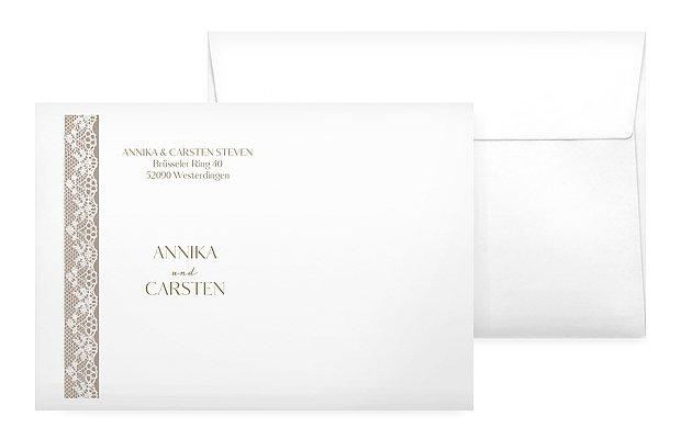 Briefumschlag mit Motiv Spitzenband