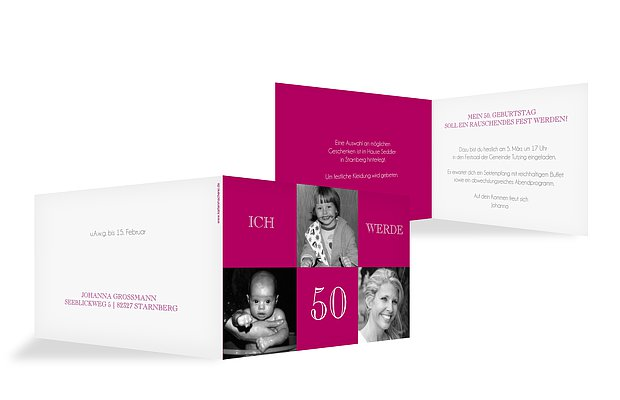 Einladungskarten Gestalten Einladungskartens 50: Einladung Zum 50. Geburtstag: Einladungskarten Gestalten