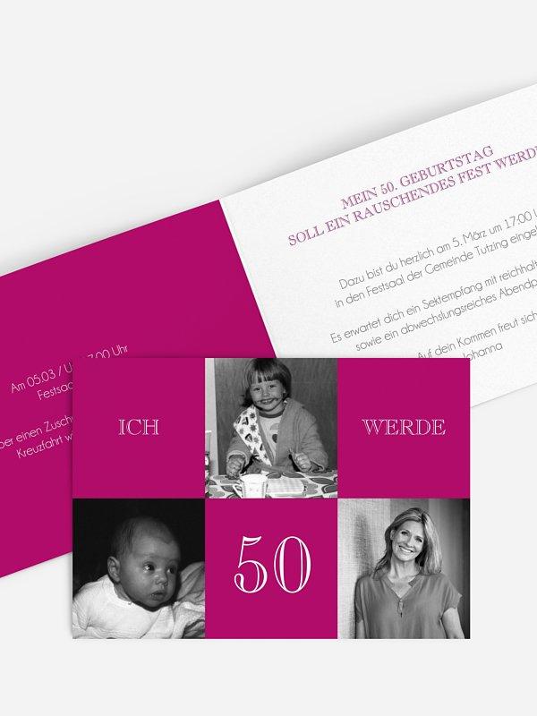 Einladung 50. Geburtstag Bildergeschichte